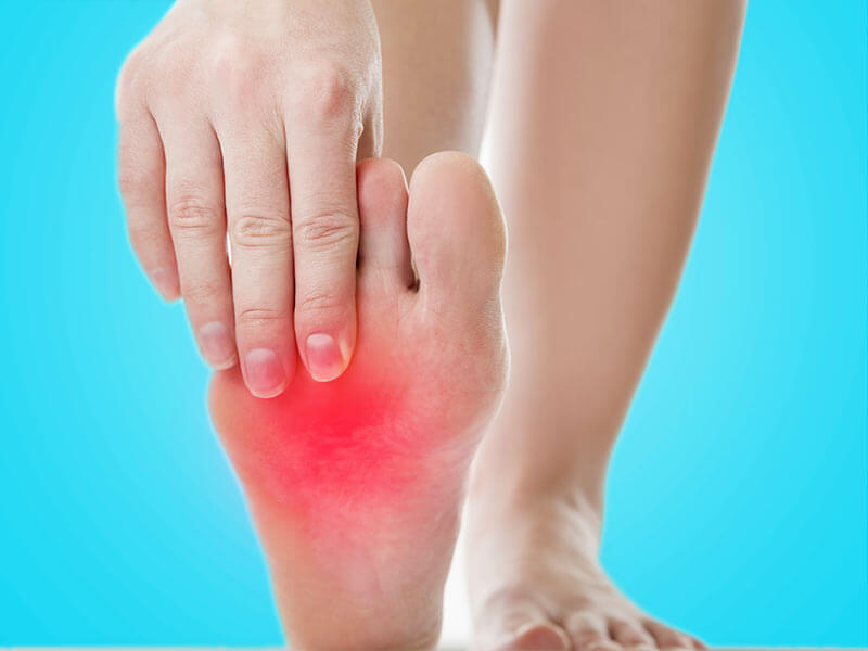 top of foot burning sensation what is it