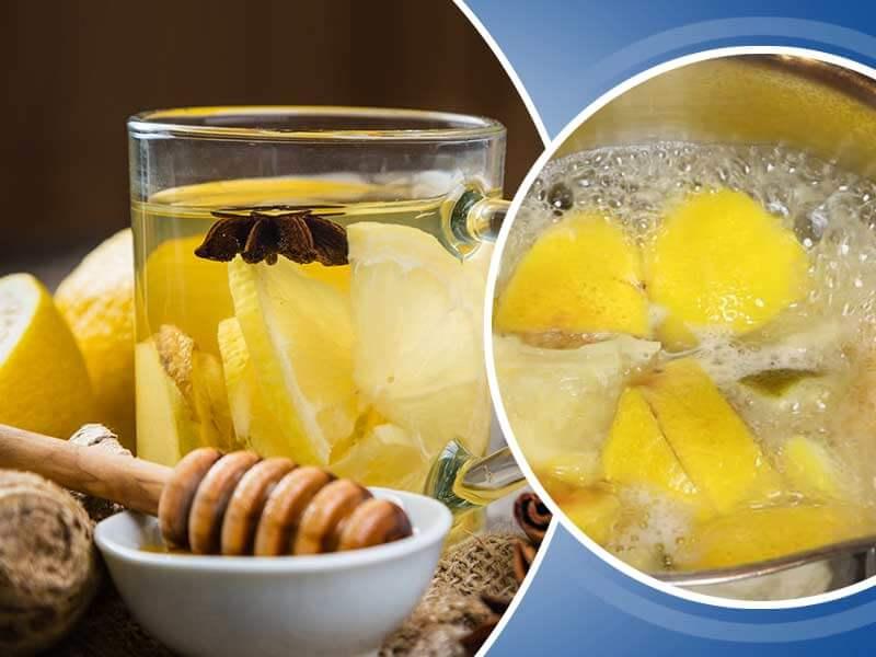 Drinking Boiled Lemon Water